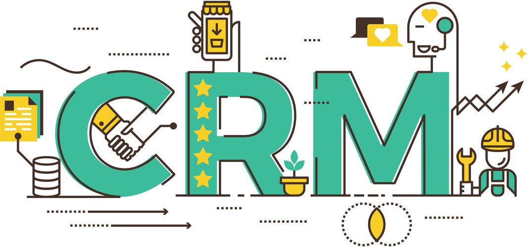 CRM in big letters and 5 stars on the R showing its 5-star quality.